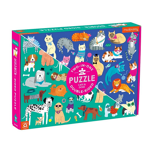 #10851 Cats & Dogs Double Sided Puzzle