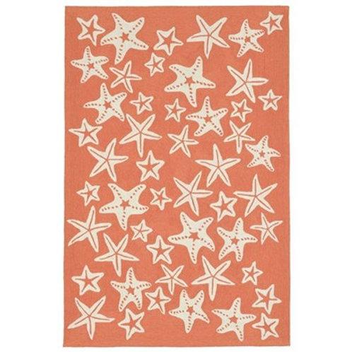 #11068 Coral Starfish Rug