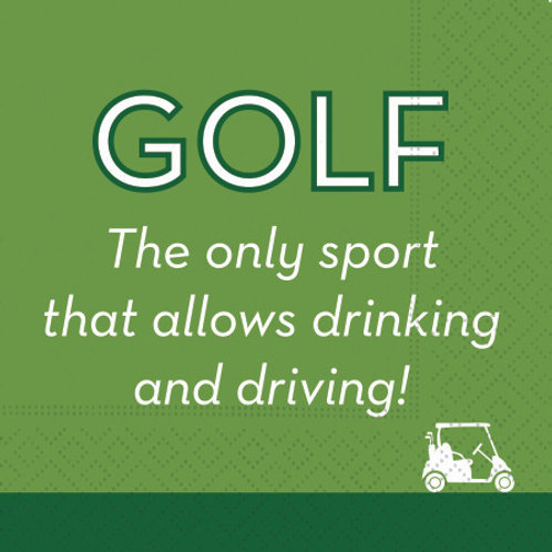 #10112 Golf Drink and Drive Napkins