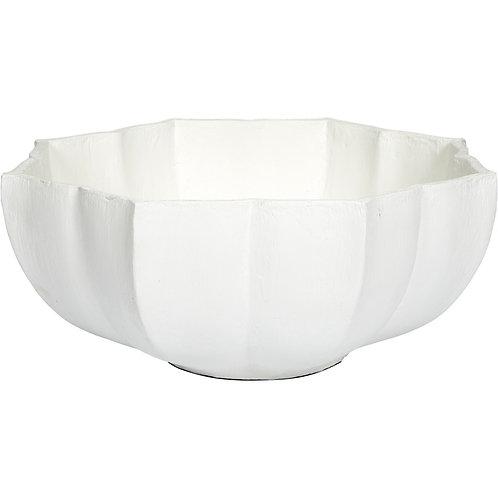 #11888 White Gesso Lotus Bowl
