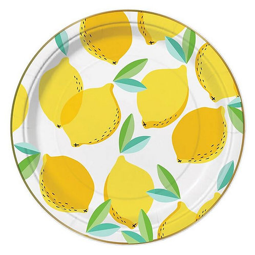 #9999 Lemon Paper Plates