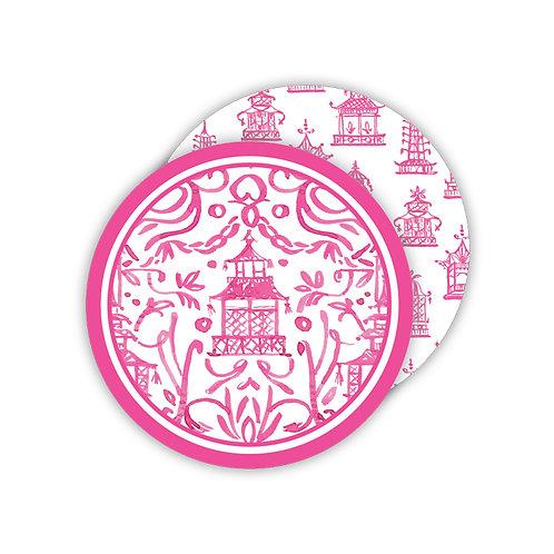 #11769 Pink Pagoda Coasters