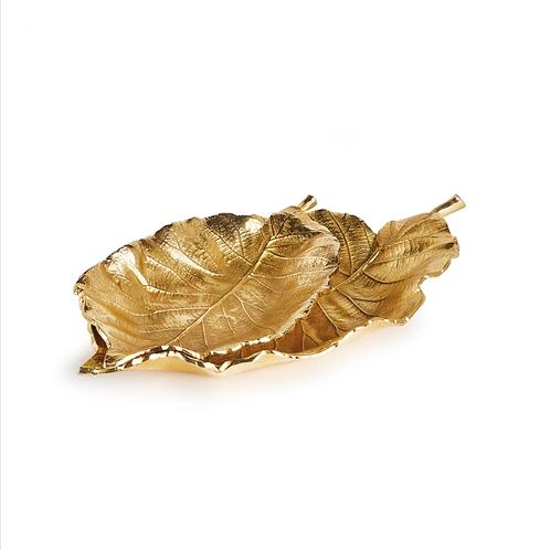 Ruffled Gold Leaf Trays