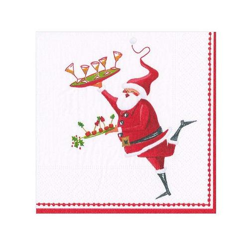 #11743 Cocktail Napkin (Santa Serving)