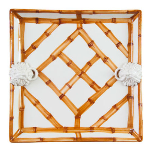 #4081 Natural Bamboo Square Platter