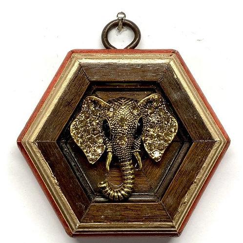 #11328 Painted Frame w/Sparkle Elephant