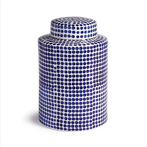 #10486 Small Blue & White Dot Jar