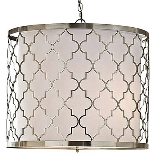#2223 Brushed Nickel Patterned Fixture
