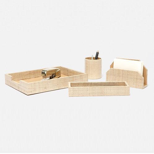 #10269 Woven Desk Set
