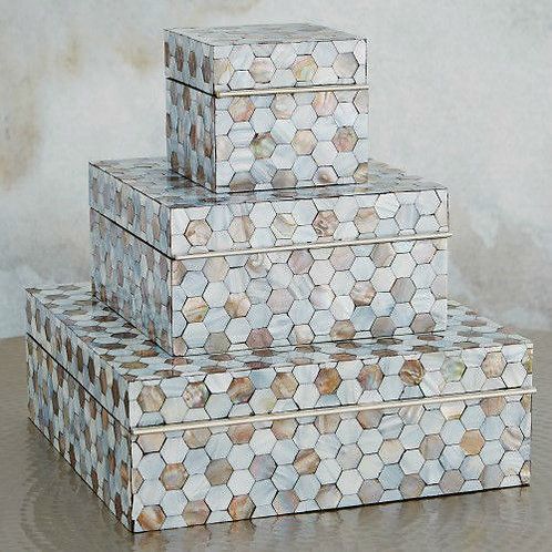 #5019 Honeycomb Mother of Pear Box