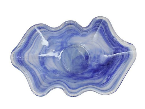#11674 Onda Glass Bowl Cobalt LG