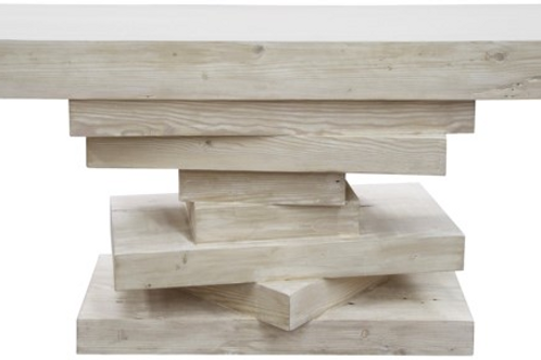 #10506 Stacked Geometric Console