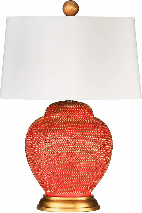 #10498 Gold Dotted Coral Lamp