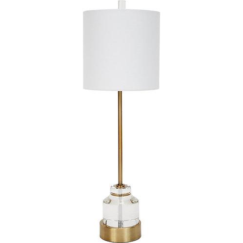 #11891 Buffet Lamp w/Clear Crystal Base