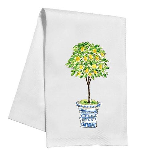 #11528 Lemon Tree Topiary Towel
