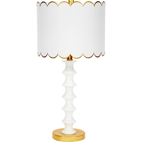 #8713 Scalloped Table Lamp