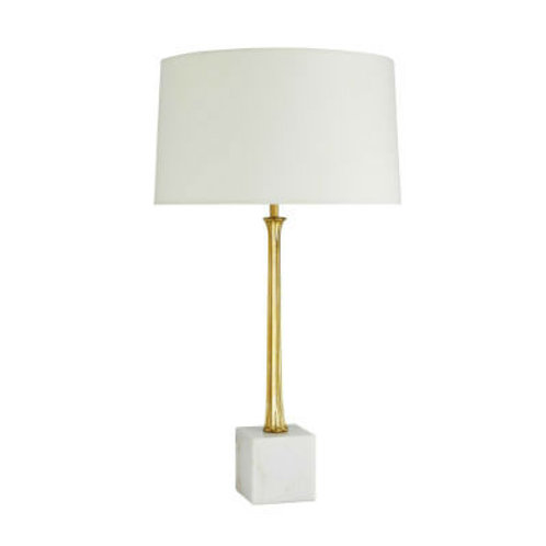 #8326 Brass & Marble Lamp