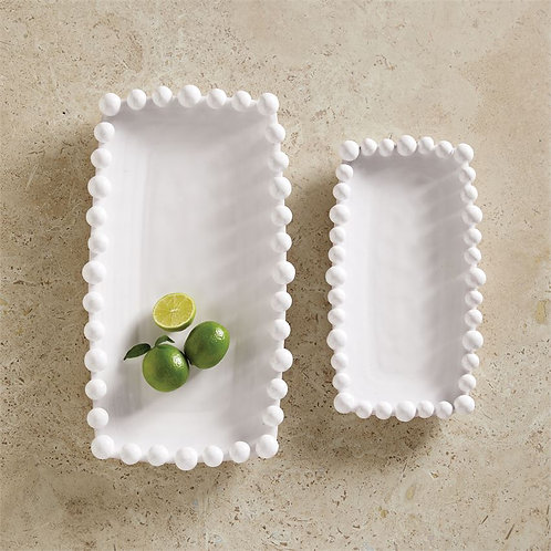 #10714 Small Dotted Rim Platter