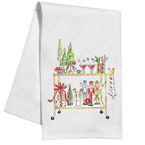 #10146 Holiday Bar Cart Tea Towel