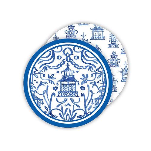 #11768 Blue Pagoda Coasters