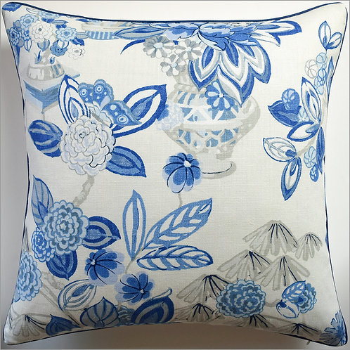 #9640 Bouquet Chinoiserie Pillow