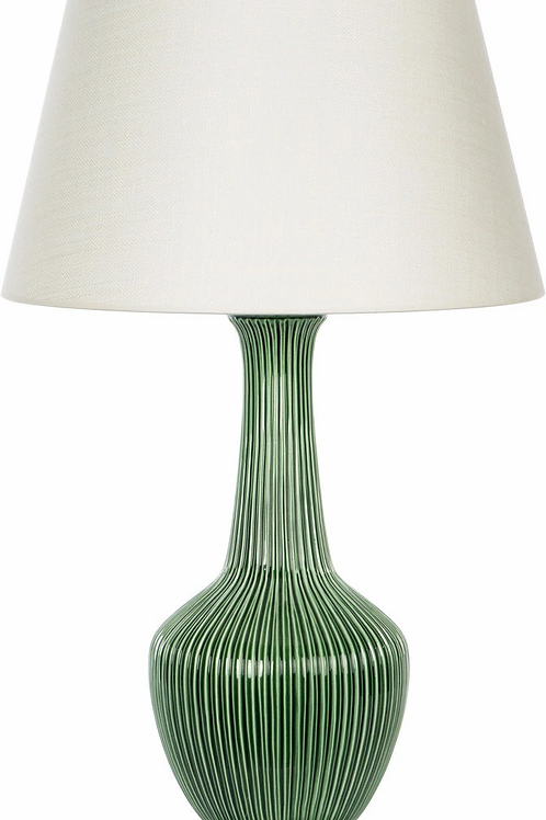 #10495 Green Ribbed Accent Lamp