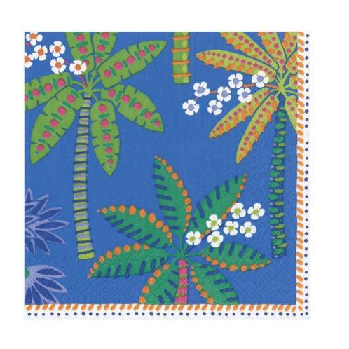 #11742 Cocktail Napkin (Palms Blue)