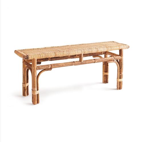 #10438 Cane & Wood Bench
