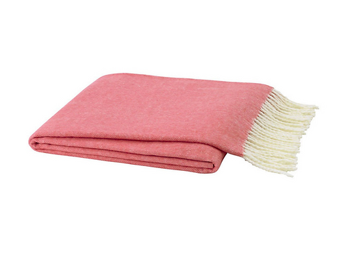 #3596 Coral Herringbone Throw