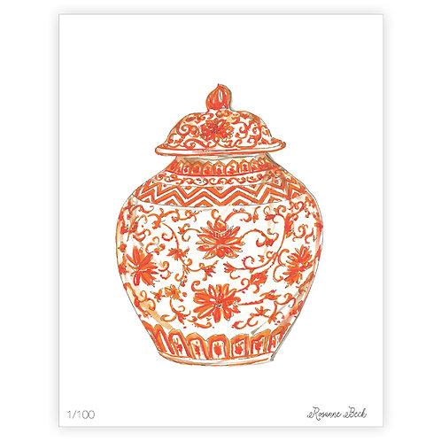 #10190 Orange Ginger Jar Print