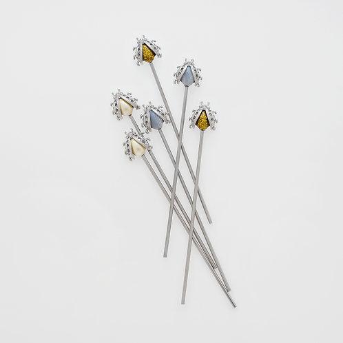 #6698 Lady Bug Swizzle Sticks