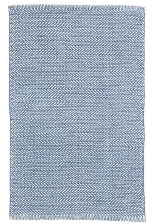 #12061 Herringbone Rug (Denim/Ivory)