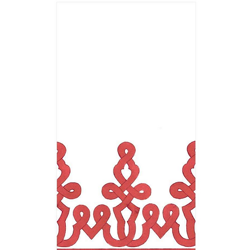 #11724 Paper Linen Guest Towel Napkins (Red/Coral)