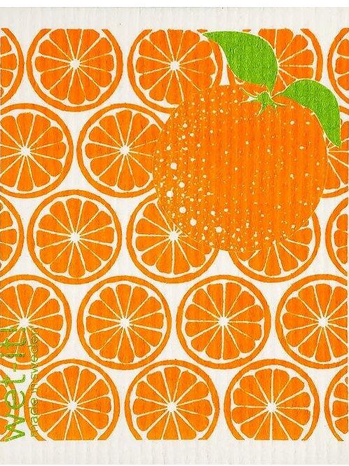 #9943 Orange Swedish Dishcloth