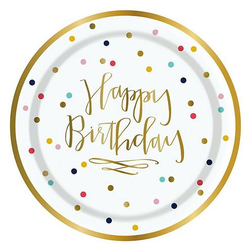 #10265 Happy Birthday Confetti Plates