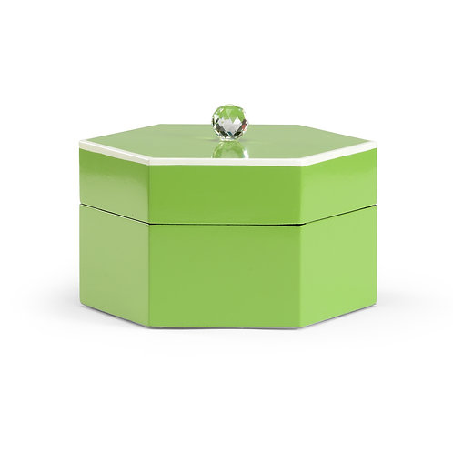 #10516 Hexagonal Crystal-Lidded Box