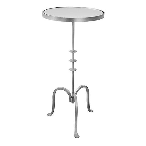 #10866 Mirror Top Cigar Table (Silver)