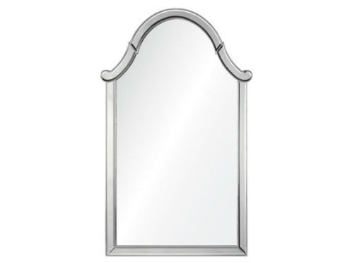 #4004 Silver Leaf Arched Mirror