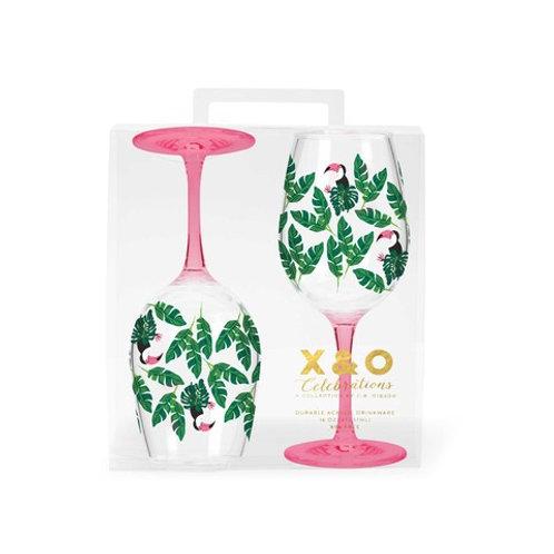 #9898 Toucan Wine Glass Set