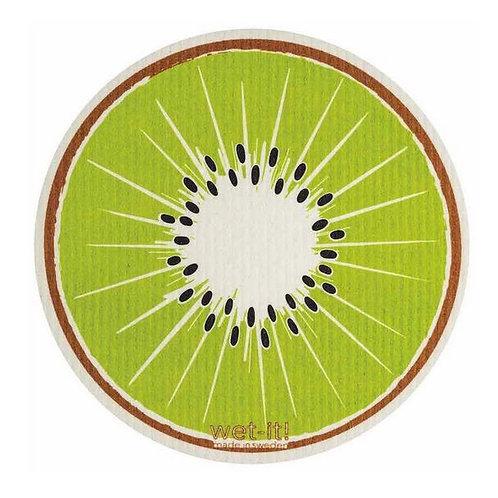 #9953 Round Kiwi Swedish Dishcloth