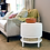 Thumbnail: #10982 White Linen Cushion Stool