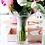 Thumbnail: #6415 Hibiscus Striped Vase (Small)