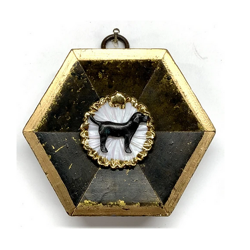 #10655 Gilt Frame w/Dog on Brooch