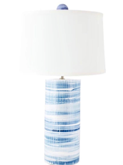 #7940 Striped Cylinder Lamp