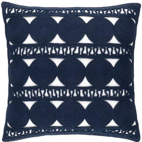 #12096 Round Turn Pillow (Navy)