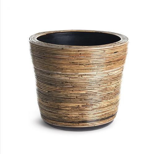 #10457 LG Wrapped Dry Basket Planter