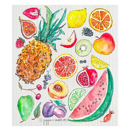 #11087 Fruits Swedish Dish Cloth