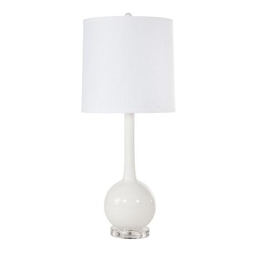 #8428  White Lacquer Lamp