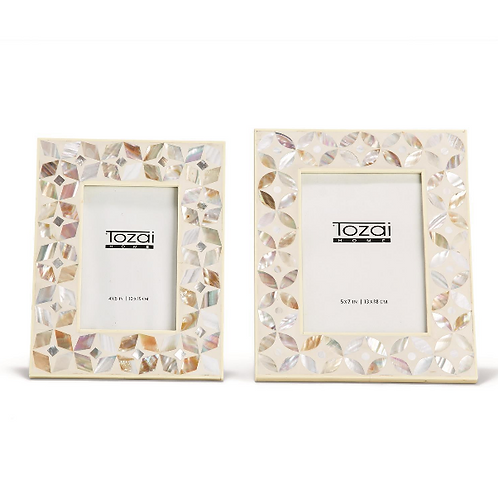 White & MOP Inlay Frames