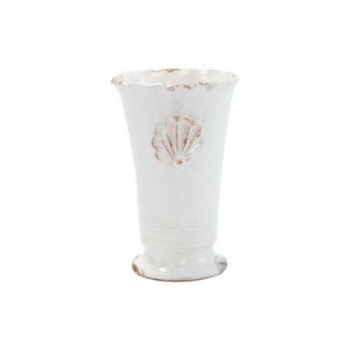#8255 Small Scallop Emblum Ruffle Vase